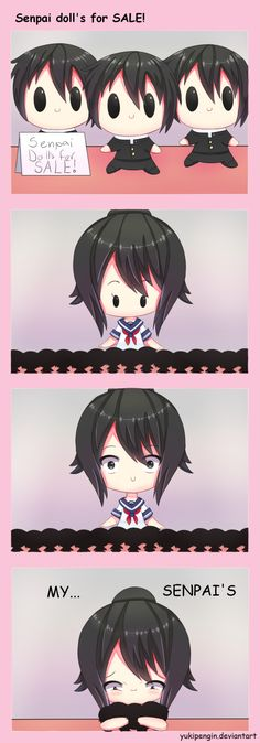 Senpai doll's for SALE! by Yukipengin on DeviantArt Animes Yandere, Yandere Manga, Pokemon, Yandere Simulator Fan Art, Tokyo Ghoul, Vocaloid, Yendere Simulator, Card Captor, Ayato