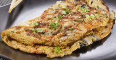 Recette de Omelette légère champignons, oignons et ciboulette. Facile et rapide à réaliser, goûteuse et diététique.