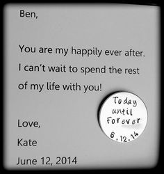 Groom+Gift+from+Bride+Today+until+Forever+coin+by+SoBlessedDesigns