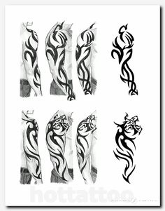 A tribal tiger tattoo that a friend wanted but didn& know what type . - A tribal tiger tattoo that a friend wanted but didn& know what type it was. Tribal Tiger Tattoo, Tribal Tattoos For Men, Tribal Sleeve Tattoos, Tribal Tattoo Designs, Tattoo Sleeve Designs, Trendy Tattoos, Small Tattoos, Tattoos For Guys, Snake Tattoo