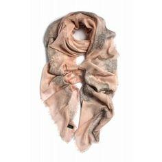 Foulard Richiami de modal y seda color nude www.sanci.es