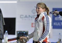 Céline Goberville remporte la médaille d'argent en tir à 10m après avoir mené durant toute la finale.