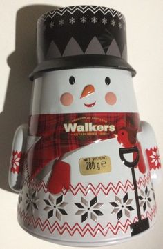 Walkers Biscuit Tins 200G Empty Christmas Tin Snowman collectable feastive   | eBay
