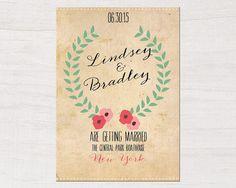 Lovely Wedding Invitation DIY PRINTABLE by savemydate on Etsy, $30.00
