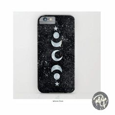 Speckled Celestial iPhone Case - Moon and Stars - Silver - Gold - Rose Gold by YazRajaDesigns on Etsy