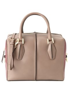 """TOD'S """"D-Cube"""" Small Leather Bowler Bag is on Rue. Shop it now."""