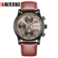 CURREN Men Watch Luxury Brand Menstwatches Leather Analog Quartz-Watch Casual Sport Male Clock Relogio Masculino #Affiliate