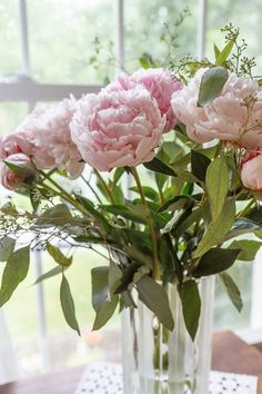 A vase of peonies is a special treat.