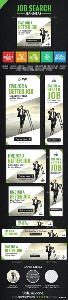 Job Search Banners Template PSD | Buy and Download: http://graphicriver.net/item/job-search-banners/9088275?WT.ac=category_thumb&WT.z_author=doto&ref=ksioks