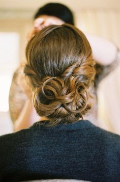 Yet another curly wedding updo