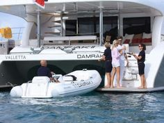 Discover the top-rated Sunreef charter yacht DAMRAK II, a luxury catamaran available for charter in the Mediterranean and Caribbean. Sunreef Yachts, Power Boats, Catamaran, Travel, Holidays, Big, Viajes, Holidays Events, Holiday