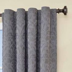Amazon.com - Eclipse Carlita Blackout Window Curtain Panel, 95-Inch, Smoke - Window Treatment Panels