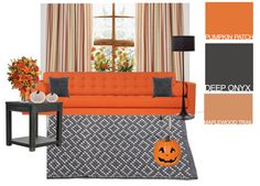 Get pumpkin-spiced inspiration for your living room. Check out our Halloween @Polyvore set for seasonal colors that work all year long. http://polyv.re/1tlBhWG