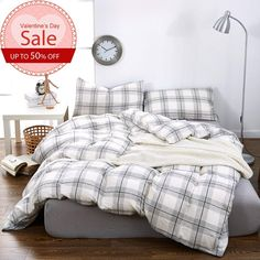 Twin Size Duvet Cover Set Winter Warm Double Yarn Cotton Kids Bedding Sets Light Grey Grid Patterns Duvet Cover for Boys and Girls Breathable Hotel Quality Comforter Bed Cover Sets Bed Cover Sets, Twin Size Duvet Covers, Comforter Cover, Bed Covers, Kids Bedding Sets, Cotton Bedding Sets, Bedding Sets Online, Queen Bedding Sets, Thing 1