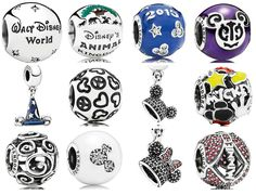 2015 Disney Pandora All Park Exclusive Charm Beads and Dangle Charms