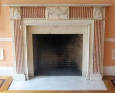 For outside?  Urn like terra cotta wall plaques Item ID: 102201  Description:Marble fireplace mantel having polychrome fluting on jambs and frieze, and carved swag and urn motifs on central panel and corner blocks. Material: Dimension: (W) (H) (D) Location:CT IV Quantity:1 Status:avail Price:Call for Price Price Type:single