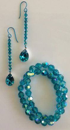 Swarovski crystal sparkling set. Colorful Niobium hypoallergenic earrings... If you can't wear certain metals, try these!