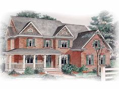 Eplans Country House Plan - A Lasting Impression - 3121 Square Feet and 5 Bedrooms from Eplans - House Plan Code HWEPL10915