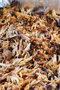 Pulled Pork Recipe — An Easy Oven Pulled Pork Recipe Southern Pulled Pork. This is the real deal. This is the real deal. Pulled Pork Oven, Perfect Pulled Pork, Pulled Pork Recipes, Southern Pulled Pork Recipe, Pull Pork, Best Oven Pulled Pork Recipe, Pulled Pork Electric Smoker, Easy Crockpot Pulled Pork, Crockpot Pork Shoulder Roast