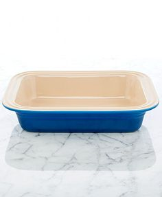 "Le Creuset Stoneware 8.5\"" x 10.75\"" Deep Dish Baking Dish"