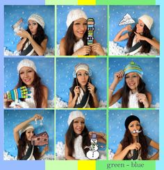 mountain photo booth props - outdoor winter sports - perfect for your snowy ski vacation or winter adventure. $13.99, via Etsy.
