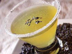 1 1/2 oz chamomile infused Beefeater 24 gin 1 oz St. Germain elderflower liqueur 1/2 oz fresh lemon juice 1/4 oz lavender infused simple syrup Shake and straing into a chilled cocktail glass, rimmed with superfine sugar and a light sprinkle of dried lavender buds to garnish.