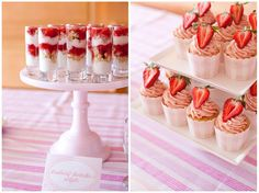 strawberry shortcake parfaits + strawberry champagne cupcakes {Annie's ...