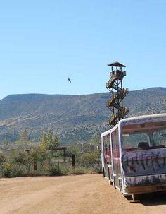 Zipline Tower at Out of Africa Wildlife Park, Camp Verde, AZ
