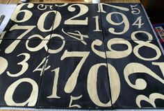 DIY Décor: Distressed Numbers Canvas