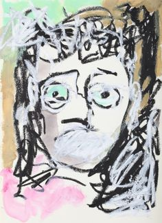"""This original work titled """"Man 002"""" is 30x42 cm in oil stick & acrylic on paper (90 gr.). It was made in June 2016 in Spain and is signed and dated on the back. It will ship carefully rolled up in ..."""