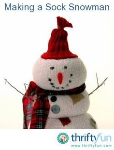 This is a guide about making a sock snowman. With some simple accessories, you can turn a plain sock into an adorable snowman. They are cute decorations for around the house and make great gifts too.