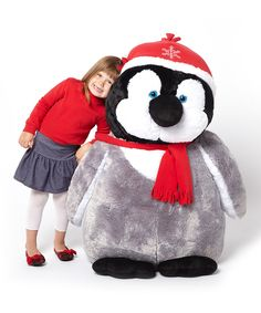 Take a look at this Snowflake Emperor Penguin Chick Jumbo Plush Toy on zulily today!