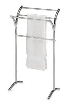 141fefacc08c Amazon.com  Chrome Finish Towel Rack Bathroom Stand Shelf  Home   Kitchen