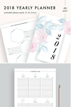 I love the soft colours of this planner.  #planner #2018 #affiliate