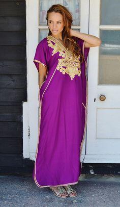 f6a8d40ce83 Kaftan Sale 20% Off  Plum Purple with Gold Marrakech Resort Marrakech