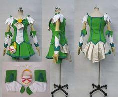 Smile Precure Nao Midorikawa Cure March Cosplay Costume Custom Any Size | eBay