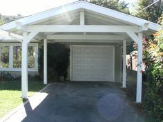 carport in front of garage - Google Search