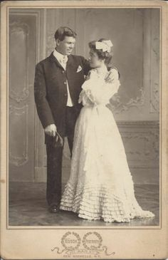 Young Couple Loving Pose Wedding Rosch Portraits New Rochelle N Y New Rochelle, Real Weddings, Vintage Weddings, Young Couples, Here Comes The Bride, Vintage Photos, Wedding Gowns, Poses, Black And White