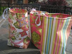 Cute trash bags for your car. Easy to make!