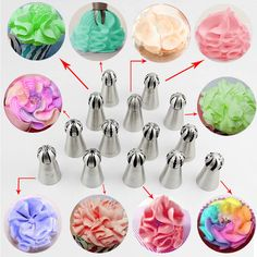 14 pcs Sphere Ball Shape Cream Stainless Steel Russian Icing Piping Nozzle Pastry Cupcake Tips Bicos De Confeitar _ {categoryName} - AliExpress Mobile Version - Piping Icing, Piping Tips, Cake Icing, Key Lime Cupcakes, Frosting Techniques, Frosting Tips, Cake Decorating Videos, Cake Decorating Techniques, Russian Cake Decorating Tips
