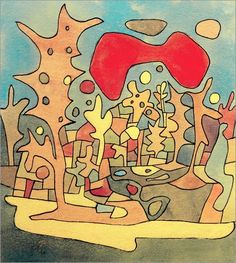 Paul Klee 'Rote Wolke' (Red Cloud) 1928 Ink and watercolor 23 x 26 cm Form Design, Bauhaus, Paul Klee Art, Red Cloud, Paintings I Love, Art Abstrait, Wassily Kandinsky, Famous Artists, African Art