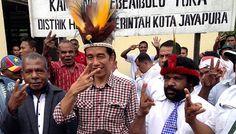 Presiden Joko Widodo yang akan berkunjung ke acara Natal Nasional 2014 di Jayapura
