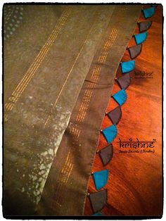 Designer Saree Tassel Saree Tassels Designs, Saree Kuchu Designs, Blouse Designs, Hand Embroidery Videos, Hand Embroidery Patterns, Beaded Embroidery, Scarf Dress, Elegant Saree, Dresses Kids Girl