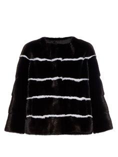Sarah striped collarless mink-fur jacket | Lilly E Violetta | MATCHESFASHION.COM UK