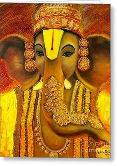 Shiva Art, Ganesha Art, Seven Horses Painting, Mythology Paintings, Sri Ganesh, Lord Ganesha Paintings, Indian Art Paintings, Art Forms, Fine Art Paper