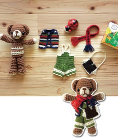 use my own fave teddybear pattern, and do something like this for it...Adorable Dress up Teddy - free pattern