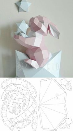 Instruções Origami, Origami Butterfly, Paper Crafts Origami, Cardboard Crafts, Diy Paper, Origami Flowers, Fabric Crafts, 3d Templates, Star Template