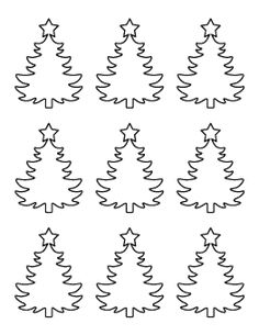 Free Holiday Patterns for Crafts, Stencils, and Christmas Tree Stencil, Christmas Tree Printable, Christmas Tree Template, Ribbon On Christmas Tree, Small Christmas Trees, Christmas Tree Pattern, Christmas Colors, Christmas Tree Decorations, Christmas Crafts