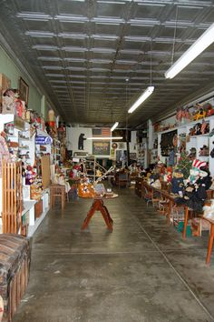 Stearnsy Bears in Missouri. It was an old hardware store lined with bears.