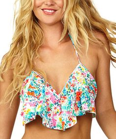 Another great find on #zulily! Sweet Baby In Full Flower Bikini Top by Raisins #zulilyfinds